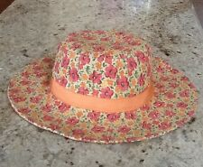 6-12-18 NWT GYMBOREE LITTLE HULA GIRL FLORAL STRAW HAT