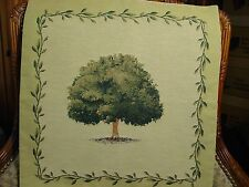 TREE Belgian Tapestry Pillow Cover No. 2