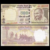 India 500 Rupee, 2015, P-New, UNC