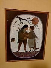 "R. Davey Folk Art Print, ""A Bushel And A Peck"" Signed Has Border No Frame"