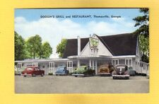 Thomasville,Georgia GA Dodson's Grill and Restaurant 1950's incl woody wagon