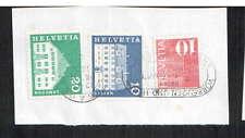 FRANCOBOLLI x3: SVIZZERA HELVETIA - 10-nafels-SAMEDAN - 20 - 1970 S?