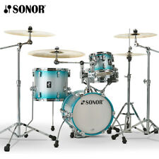 NEW Sonor AQ2 MARTINI Maple 4 Piece Drum Set Shell Pack - Aqua Silverburst