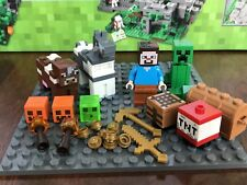 LEGO Minecraft The Crafting Box 2.0 Minifigure Lot 21135 Minifig Horse Cow NEW!