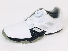 Adidas Bounce Boys Golf Shoes Cleats White Low Top Elastic F33535 Youth Size 4