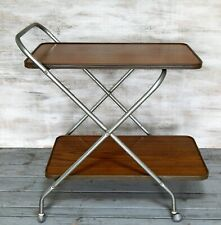 Vintage Retro 60s Hostess Serving Trolley Mid Century Kitsch Teak Effect