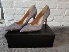 BNIB Ladies Phase Eight silver high heels/court shoes size 8 RRP £89