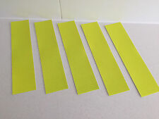 Hi-Vis Yellow Adhesive Reflective Caution Tape Strip 50mm x 200mm (5/pk)