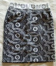 Women's BANANA REPUBLIC Lined Gray Print Skirt Size 4