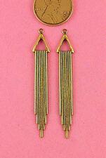 Earring Drop - 4 Pcs Antique Brass Vintage Design Long