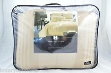 Hotel Collection Classic Stripe Full/Queen Comforter Champagne Msrp $340 h254