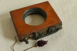 Antique Thornton Pickard ROLLER BLIND SHUTTER. Mahogany and Brass .