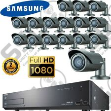 Samsung 16 Channel IP Network CCTV Camera NVR System Kit Full HD 2MP IR 1TB HDD