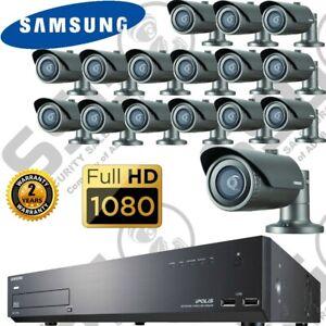 Samsung 16 Channel IP Network CCTV Camera NVR System Kit Full HD 2MP IR 1TB HDD
