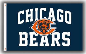 Chicago Bears Football Fan Memorable Flag 90x150cm 3x5ft Souvenirs best banner