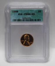 1959 1¢ Proof Cent ICG PF 68 Red (CERT0432)