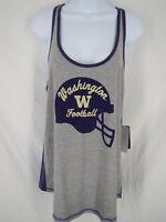 New Washington Huskies Womens Size L Large Gray Purple Nike Tank Top Shirt