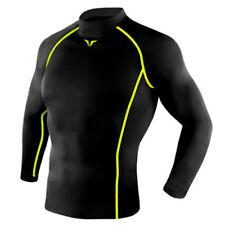 Take Five Mens Skin Tight Compression Base Layer Running Shirt S~2Xl Black 214