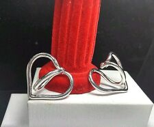 """Sterling Silver 925- GUESS COLLECTION Heart SLING - Italy - 1.4"""" - Hoop Earrings"""
