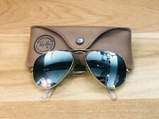 Vintage Ray Ban Aviator B&L Sunglasses Bausch&Lomb USA 58mm RB3 DGM 1970s