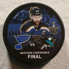 St. Louis Blues Alex Pietrangelo 2019 Stanley Cup Puck Western Conference Final