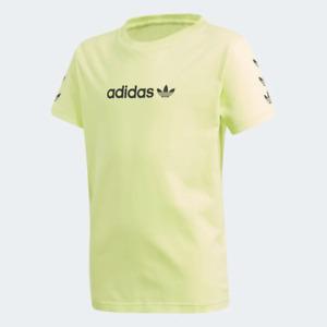 Adidas Youth Boys (8-20) Trefoil T-Shirt, Semi Frozen Yellow / Black