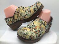 "Sanita Women's Vegan ""Amanda""Floral Skid Resistant Slip On Clogs Sz. 7(EUR 38)"