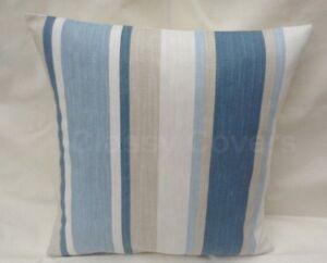 "Laura Ashley Designer Cushion Cover ""AWNING STRIPE"" SEASPRAY Various Sizes"