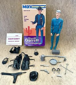 Marx Johnny West Sheriff Garrett Mod Box Set Accessories Vintage