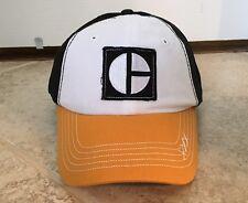 Caterpillar CAT Heritage Block C Gold Bill Cap Hat - Black Yellow White