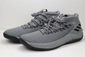 Adidas Dame Dolla 4 Basketball Yellow Tape Grey Black Lillard CQ0474 Men Size 14