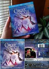Blu-ray+DVD CIRQUE DU SOLEIL WORLDS AWAY James Cameron SLIPCOVER Cdn OOP Reg A
