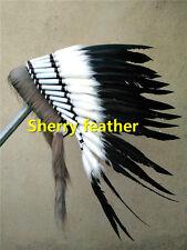 Black indian feather headdress indian war bonnet halloween costume H16019