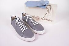Luciano Barbera NWB Sneakers in Gray w/ Royal Blue Accents Size 44 (US 10)