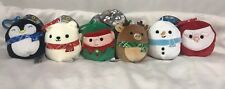 "6Squishmallow Plush 3.5"" Clip On Holiday Christmas Festive Decorative Pillow Toy"