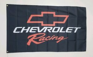 Chevrolet Chevy Racing Banner 3x5 Ft Flag Garage Decor Camaro Corvette NASCAR