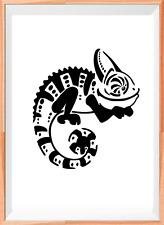 CAMALEONTE RETTILE A4 MYLAR riutilizzabile Stencil Aerografo Pittura Arte Craft fai da te
