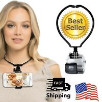 Phone Neck Holder Mount Bracket Hands Free Phone Stand for All Smartphone
