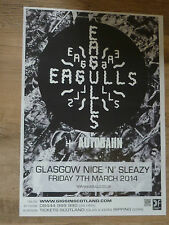 Eagulls - Glasgow march 2014 tour concert gig poster