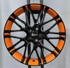 Oxigin 14 oxrock 8,5 x18 ET 35 Lk 5/100 orange foliert f. VW/ Skoda/ Seat etc.