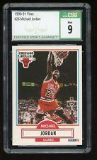 1990-91 Fleer Michael Jordan #26 Chicago Bulls HOF CSG 9 Mint