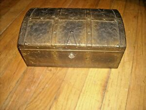 "Vintage KENNEDY MFG.CO Metal Treasure Chest Box 10""x 6"" x 4.5"". Rare Find."