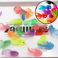 1Pc plastic simulation small goldfish soft rubber floating gold fish kids toy sa