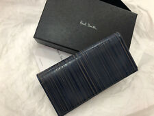 Paul Smith Long Wallet LASER ETCHED NAVY BLUE Travel Wallet