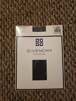 Givenchy Vintage French Ultra Sheer Leg Light Control Top Pantyhose Blue Sz B
