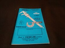 Vintage Fowler Precision Tools Catalog Calipers Dial Indicators Micrometers
