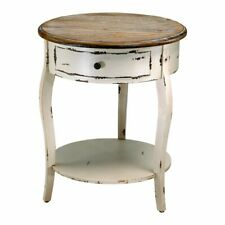 Cyan Design Abelard Side Table, Distressed White and Gray - 02469