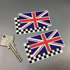 British 'Union Jack & Chequered Flag' helmet stickers