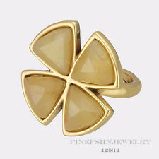 Authentic Pilgrim Jewelry Gold Plated Yellow Ring Size 6 443814