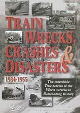 TRAINS WRECKS, CRASHES & DISASTERS DVD PENTREX VIDEO